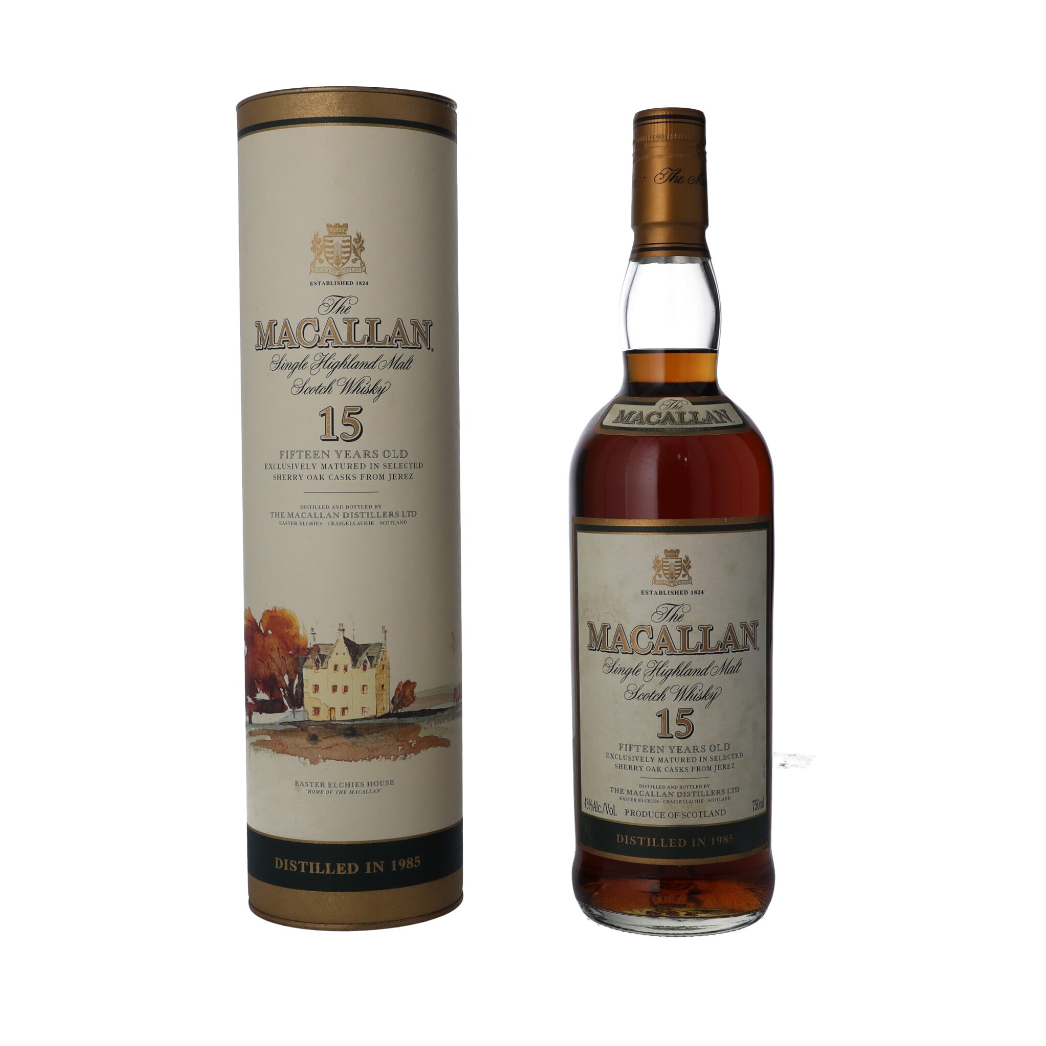 View full screen - View 1 of Lot 25. The Macallan 15 Year Old 43.0 abv 1985 (1 BT75).
