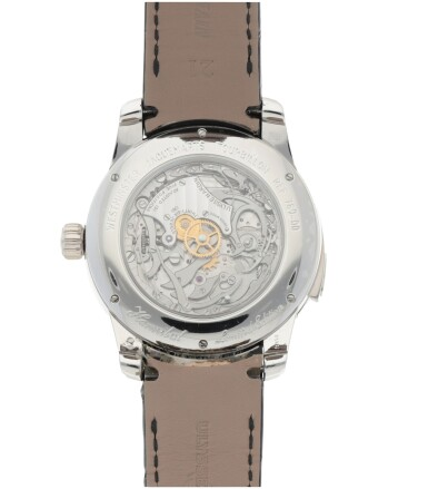 View 5. Thumbnail of Lot 426. HANNIBAL, REF 789-00 LIMITED EDITION PLATINUM WESTMINSTER MINUTE REPEATING TOURBILLON WRISTWATCH WITH JAQUEMARTS, GRANITE DIAL AND MATCHING CUFFLINKS CIRCA 2015.