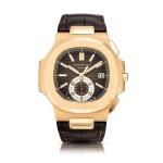 Patek Philippe | Nautilus, Reference 5980, A pink gold flyback chronograph wristwatch with date, Circa 2019 | 百達翡麗 | Nautilus 型號5980    粉紅金飛返計時腕錶,備日期顯示,約2019年製