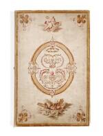 [DROUAIS]. Fête de madame Drouais. Manuscrit vers 1773-1774. Reliure en soie peinte et brodée.