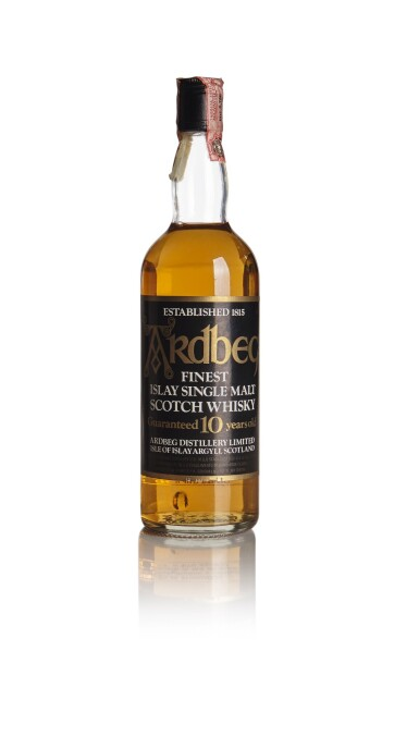 ARDBEG ORIGINAL BOTTLING 10 YEAR OLD, SPIRIT IMPORT, CLEAR GLASS, 1980s BOTTLING 40.0 ABV NV