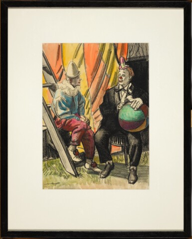 DAME LAURA KNIGHT, R.A., R.W.S. | The Clowns Marba and Randy; Herbert Hanson the Acrobat
