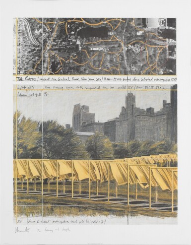 View 6. Thumbnail of Lot 34. The Gates, Project for Central Park, New York City: 5 Prints.