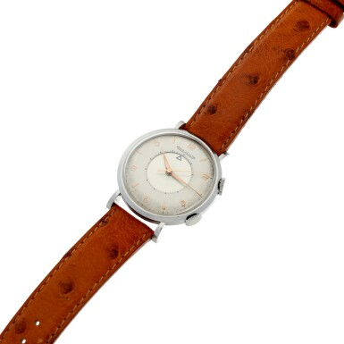 View 7. Thumbnail of Lot 240. MEMOVOX A STAINLESS STEEL ALARM WRISTWATCH, CIRCA 1960.