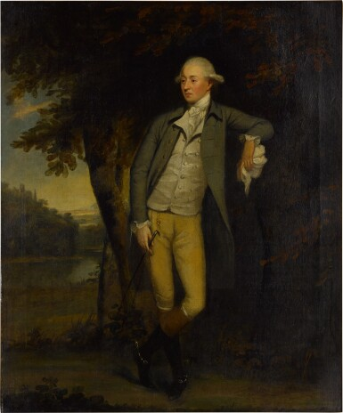 View 2. Thumbnail of Lot 108. Portrait of a gentleman in a landscape, full length.