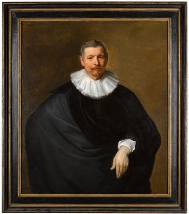 View 3. Thumbnail of Lot 27. SIR ANTHONY VAN DYCK  |  PORTRAIT OF HUBERT DU HOT (B. CIRCA 1573), THREE-QUARTER LENGTH, IN BLACK WITH A WHITE RUFF.