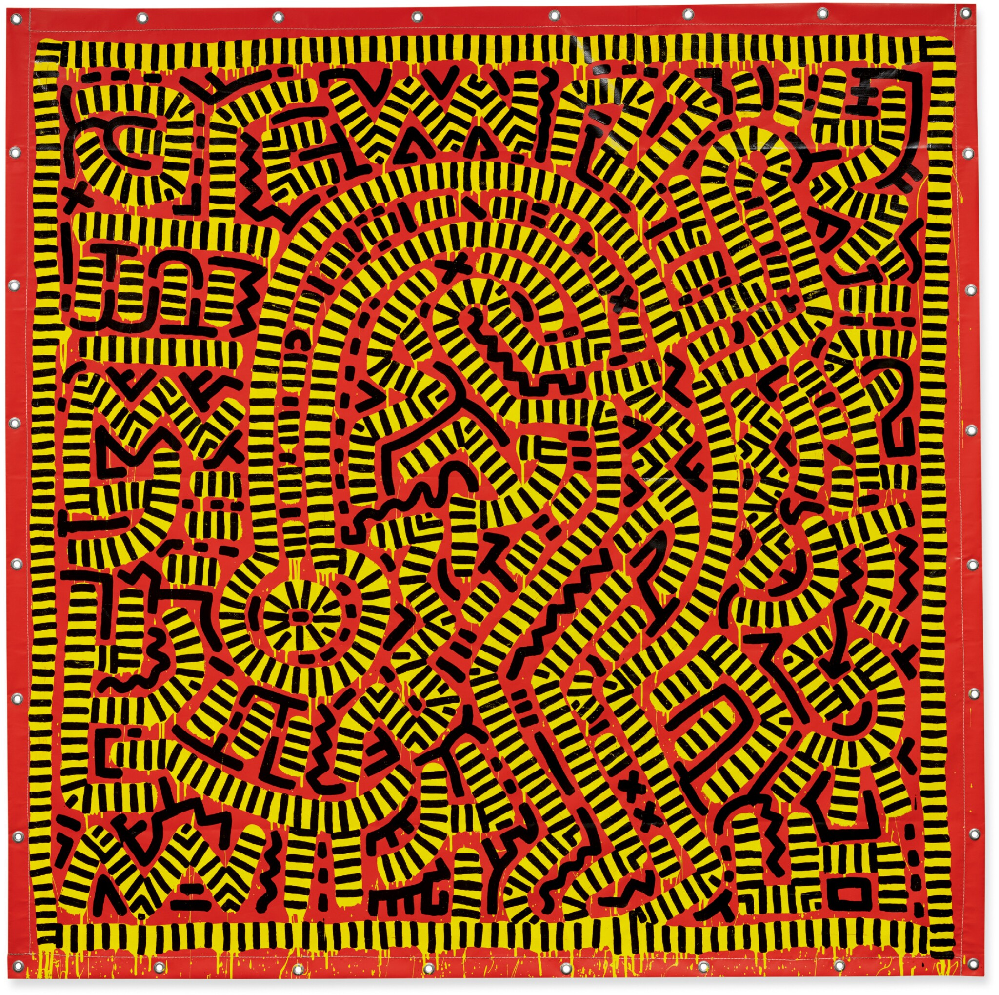 View full screen - View 1 of Lot 422. KEITH HARING   UNTITLED.