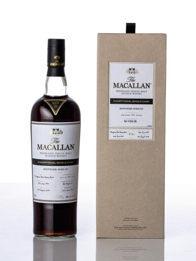 View 1. Thumbnail of Lot 5514. The Macallan Exceptional Single Cask 2017/ESB-9182/01 46.6 abv 1997 (1 BT75).