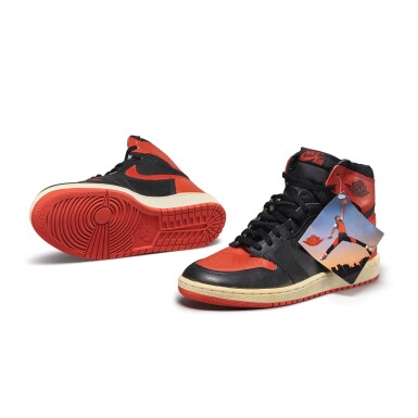 View 2. Thumbnail of Lot 7.  Peter Moore | 'Bred' Nike Air Jordan 1 High OG (1985) | Size 11.5.