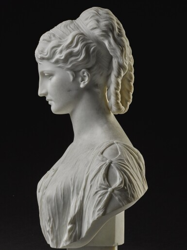 View 2. Thumbnail of Lot 7. PROSPER D' EPINAY | GRECIAN BUST.