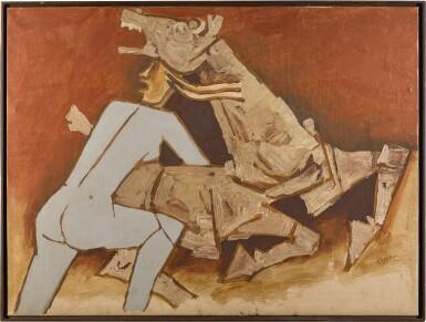 View 1. Thumbnail of Lot 76. MAQBOOL FIDA HUSAIN | UNTITLED (TERRACOTTA HORSE).