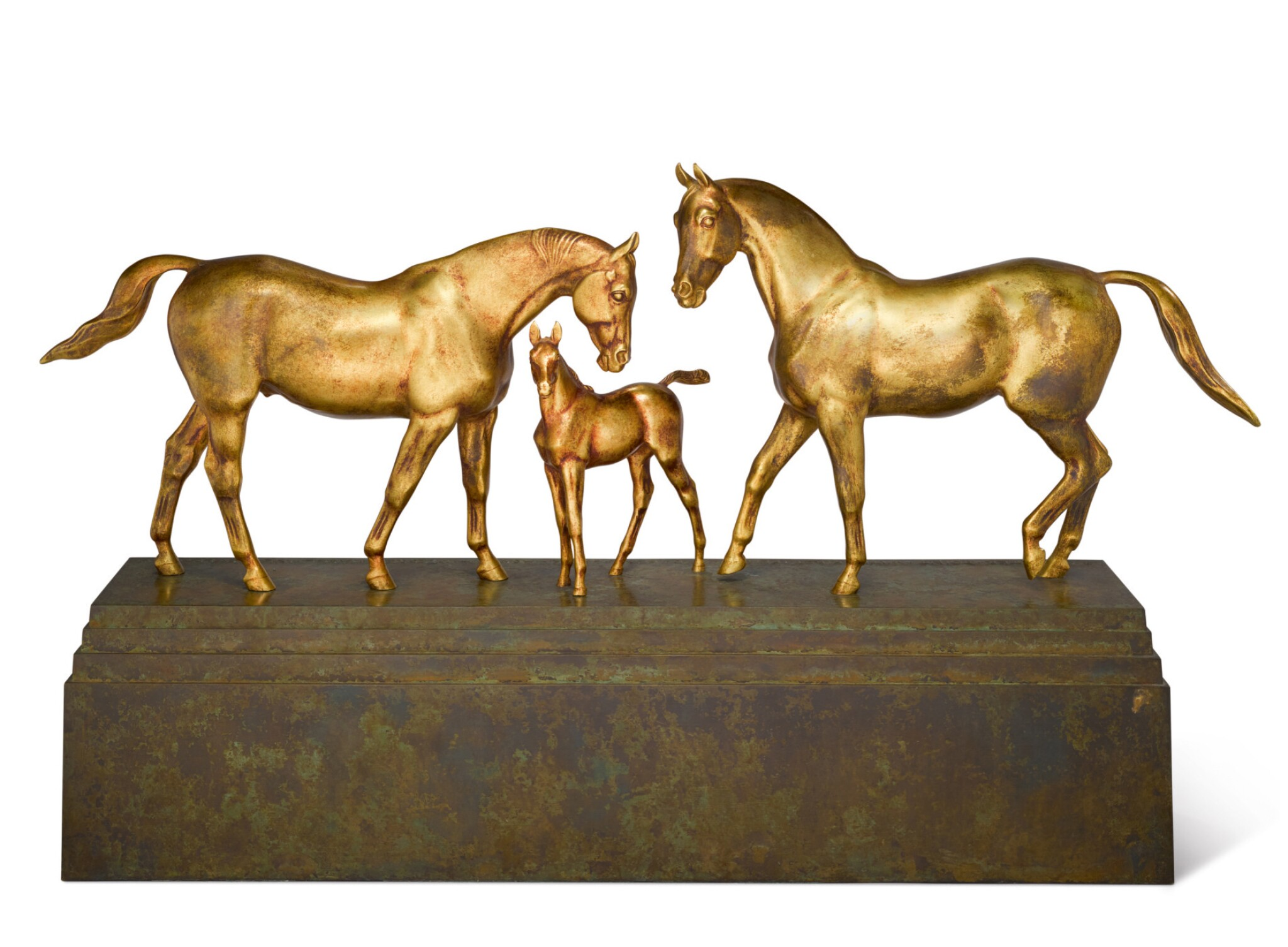 View full screen - View 1 of Lot 20. HERBERT HASELTINE   COUNTERPOINT WITH FIRST FLIGHT AND FOAL.