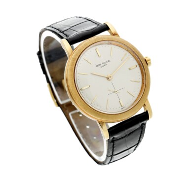 View 3. Thumbnail of Lot 228. Reference 3473  A yellow gold automatic wristwatch, Made in 1962.