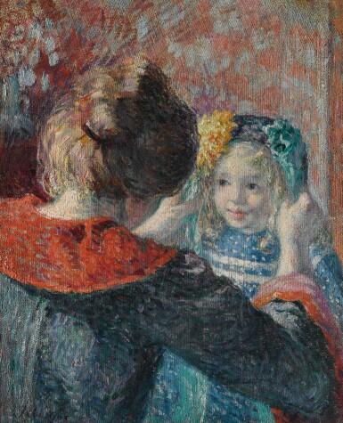 View 1. Thumbnail of Lot 38. Madame Lebasque et sa fille Marthe.