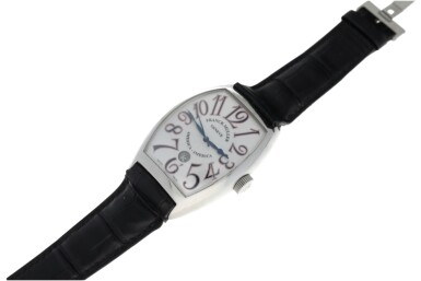View 4. Thumbnail of Lot 69.  FRANCK MULLER | REFERENCE 8880 SC DT AMERICA-AMERICA  A LIMITED EDITION STAINLESS STEEL TONNEAU-SHAPED AUTOMATIC WRISTWATCH WITH DATE, CIRCA 2008.