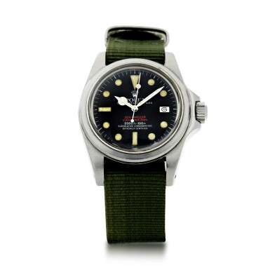 View 2. Thumbnail of Lot 125. REFERENCE 1665 'DOUBLE RED' SEA DWELLER A STAINLESS STEEL WRISTWATCH DATE AND BRACELET, CIRCA 1978.