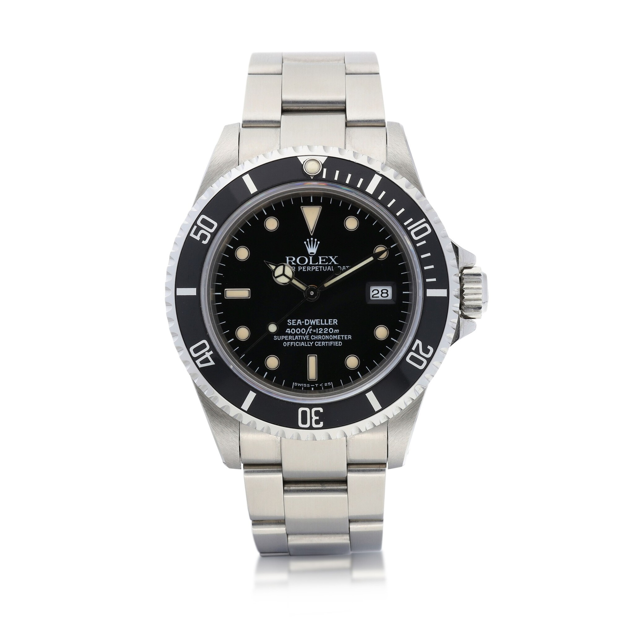 View 1 of Lot 8037. Rolex | Sea-Dweller, Reference 16600, A stainless steel wristwatch with date and bracelet, Circa 1991 | 勞力士 | Sea-Dweller 型號16600   精鋼鏈帶腕錶,備日期顯示,約1991年製.