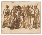 A group of standing figures