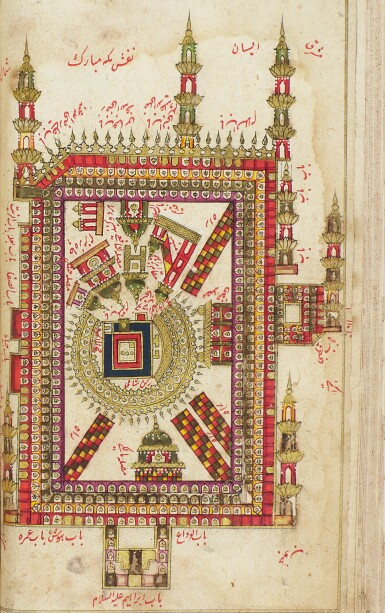 View 2. Thumbnail of Lot 58. AN ILLUMINATED COLLECTION OF PRAYERS, INCLUDING DALA'IL AL-KHAYRAT, NORTH INDIA, 19TH CENTURY.