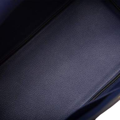 View 8. Thumbnail of Lot 5. HERMÈS   BLUE ENCRE BIRKIN 30CM OF TOGO LEATHER WITH GOLD HARDWARE.