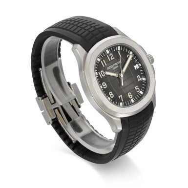 View 3. Thumbnail of Lot 349. PATEK PHILIPPE   AQUANAUT REFERENCE 5167A-001, STAINLESS STEEL AUTOMATIC WRISTWATCH WITH DATE, CIRCA 2010.