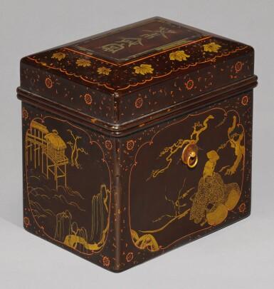 View 1. Thumbnail of Lot 64. A LACQUER CHABAKO [TEA BOX], MOMOYAMA-EDO PERIOD, LATE 16TH-EARLY 17TH CENTURY.