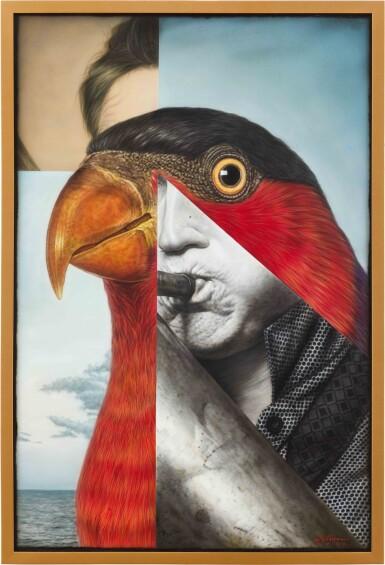 View 2. Thumbnail of Lot 129. Ronald Ventura 羅納德·溫杜拿 | Untitled (Bird Man) 無題(鳥人).