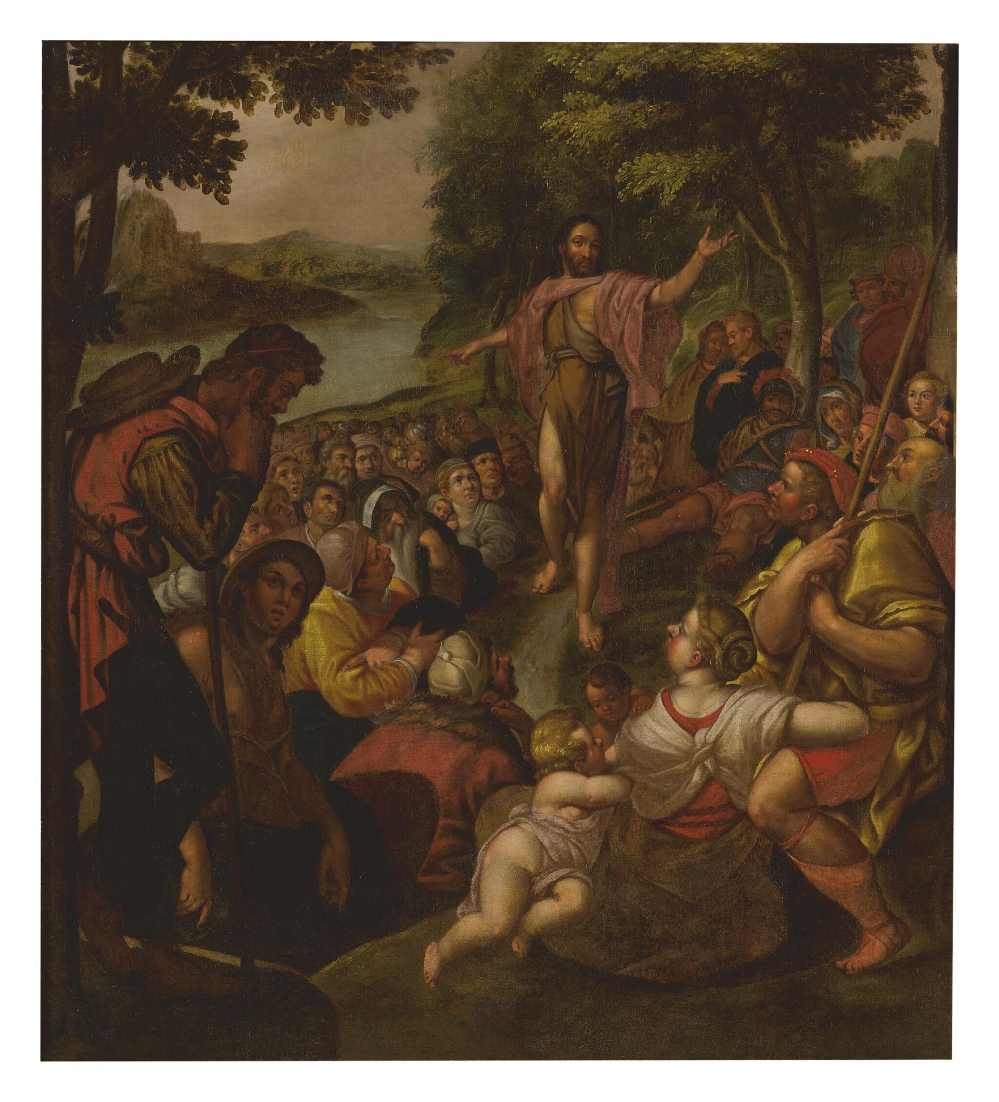 View full screen - View 1 of Lot 19. CIRCLE OF ADAM VAN NOORT | CHRIST'S SERMON ON THE MOUNT   .
