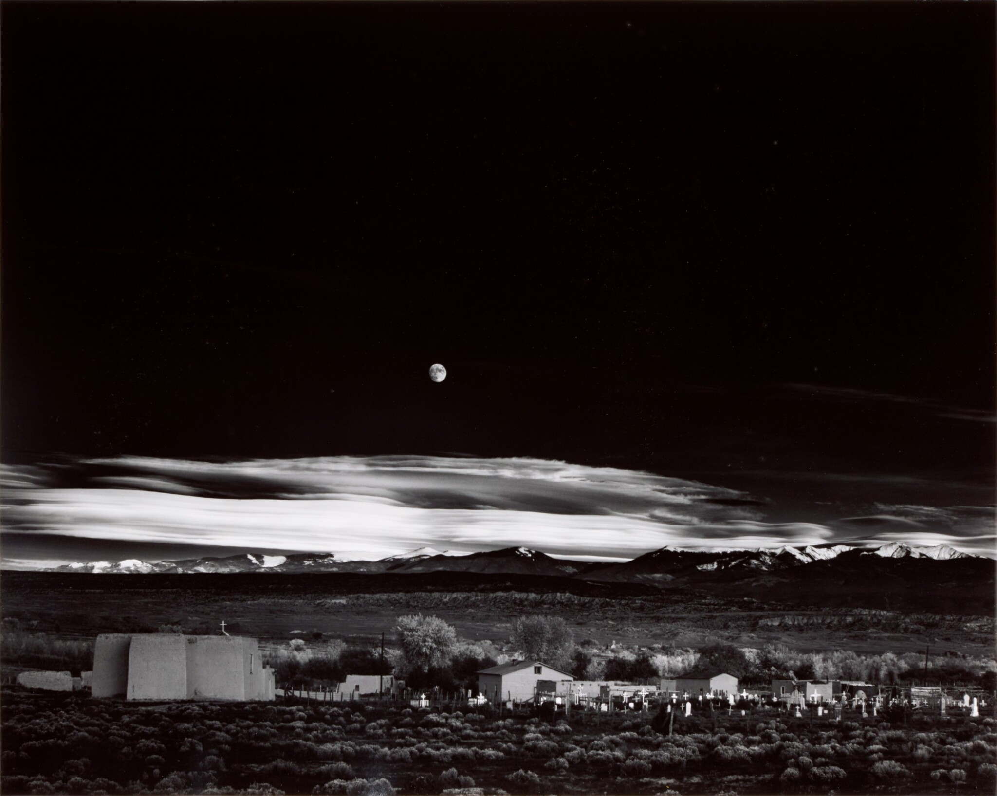 View full screen - View 1 of Lot 30. ANSEL ADAMS  |  'MOONRISE', HERNANDEZ, NEW MEXICO, 1941.