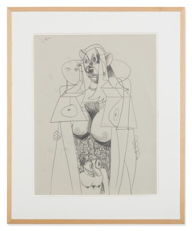 View 2. Thumbnail of Lot 43. GEORGE CONDO   STANDING FEMALE FIGURE.
