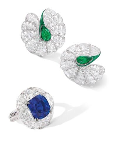 View 2. Thumbnail of Lot 1741. FORMS | SAPPHIRE AND DIAMOND RING | FORMS | 7.95卡拉 天然「緬甸皇家藍」未經加熱藍寶石 配 鑽石 戒指.