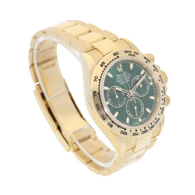 View 3. Thumbnail of Lot 15. ROLEX | REFERENCE 116508 DAYTONA   A YELLOW GOLD AUTOMATIC CHRONOGRAPH WRISTWATCH WITH BRACELET, CIRCA 2019.