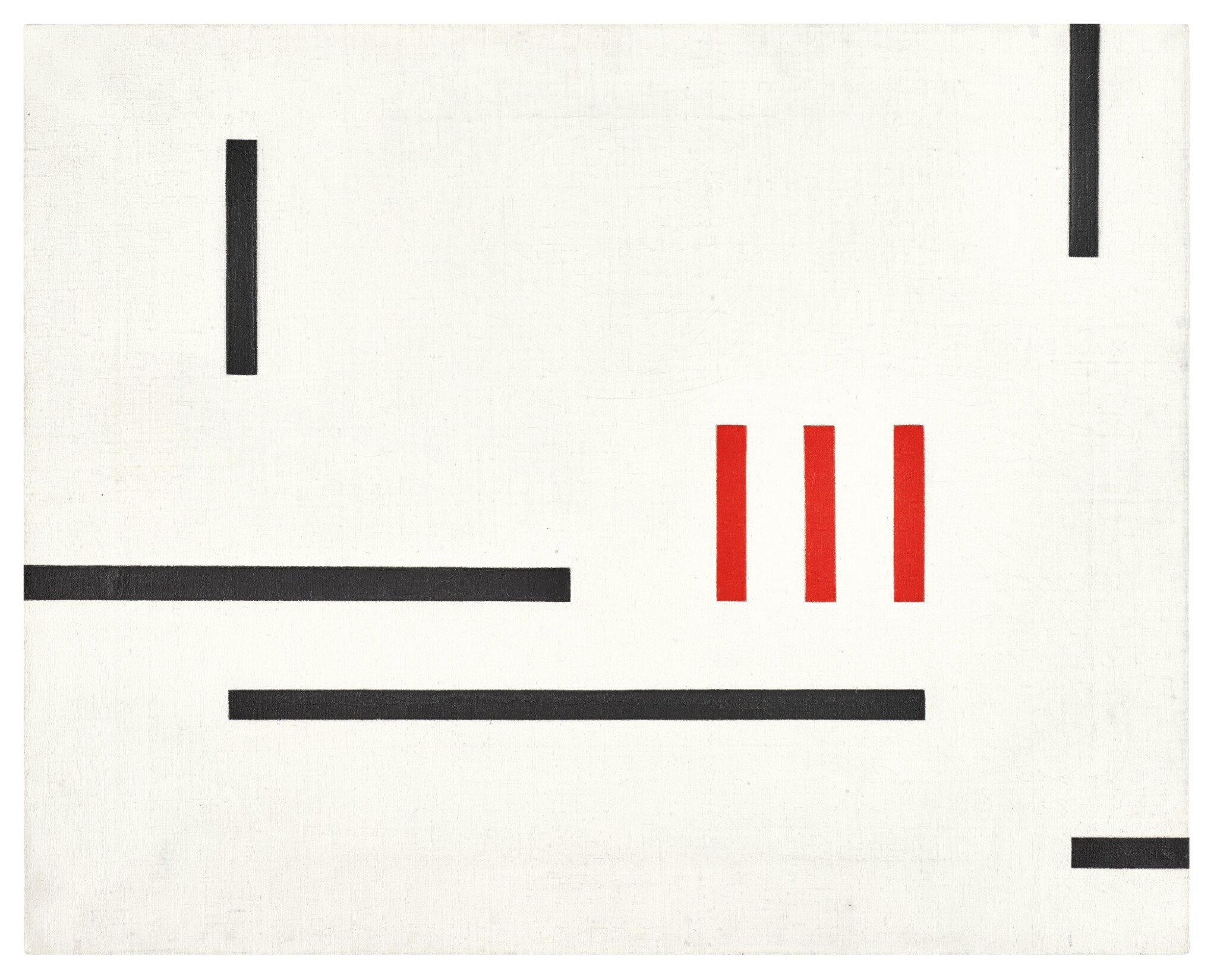 View 1 of Lot 65. MARLOW MOSS  |  WHITE, BLACK AND RED.