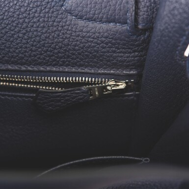Hermès Bleu Nuit Retourne Kelly 28cm of Togo Leather with Palladium Hardware