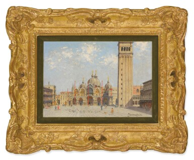View 2. Thumbnail of Lot 300. ANTONIETTA BRANDEIS | PIAZZA SAN MARCO WITH THE PALAZZO DUCALE AND CAMPANILE.