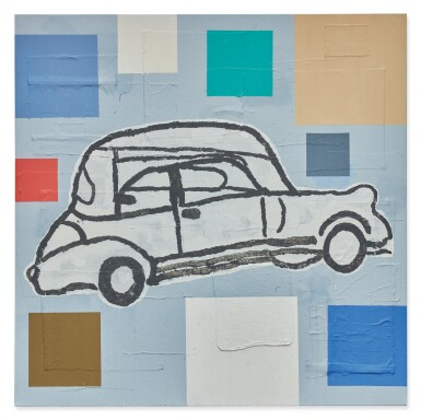 DONALD BAECHLER | ABSTRACT PAINTING WITH CAR