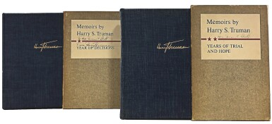 View 2. Thumbnail of Lot 79. Harry S. Truman   Memoirs by Harry S. Truman. New York: Doubleday & Company, Inc., 1955-1956.