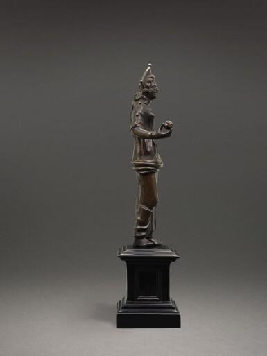 View 3. Thumbnail of Lot 205. AN ETRUSCAN BRONZE FIGURE OF A GODDESS, CIRCA 2ND CENTURY B.C..