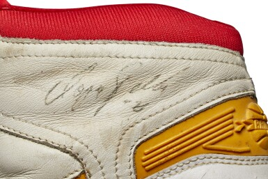 View 10. Thumbnail of Lot 807. Dominique Wilkins Game Worn & Dual Signed Sneakers.