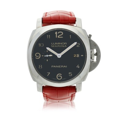 View 1. Thumbnail of Lot 107. PAM00359 Luminor Marina  A stainless steel automatic wristwatch with date, Circa 2014.