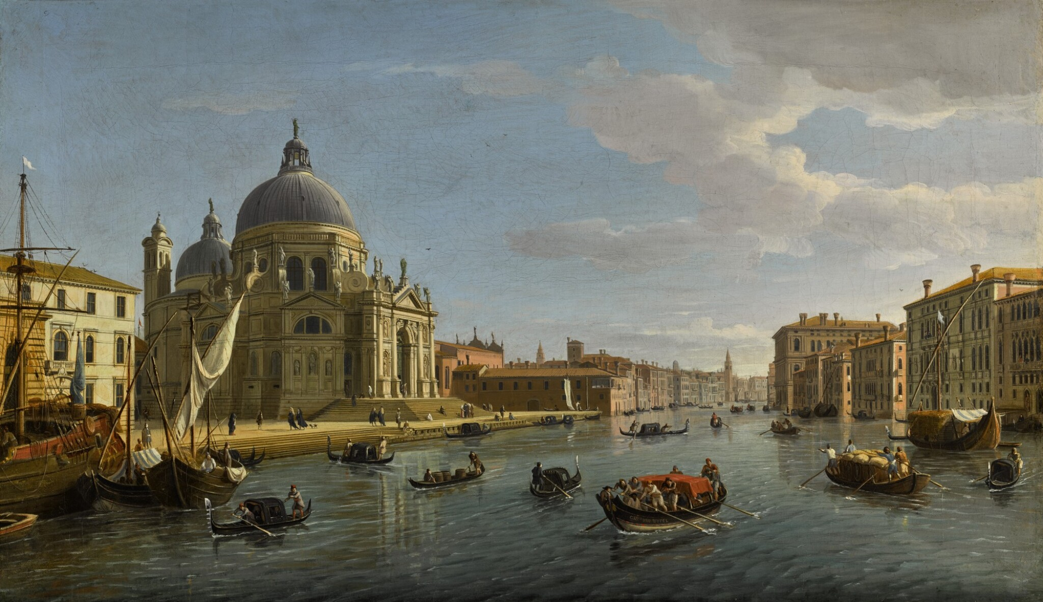 View full screen - View 1 of Lot 29. Venice, Santa Maria della Salute and the entrance to the Grand Canal |《威尼斯安康聖母聖殿與大運河入口》.