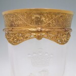 A GOLD-MOUNTED ROCK CRYSTAL GOBLET & COVER | CIRCA 1830