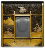 A LACQUER SUZURIBAKO [WRITING BOX] WITH LANDSCAPES, ATTRIBUTED TO THE IGARASHI SCHOOL, EDO PERIOD, 17TH CENTURY
