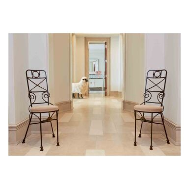 "View 1. Thumbnail of Lot 2. Pair of ""Fondation Maeght"" Side Chairs."