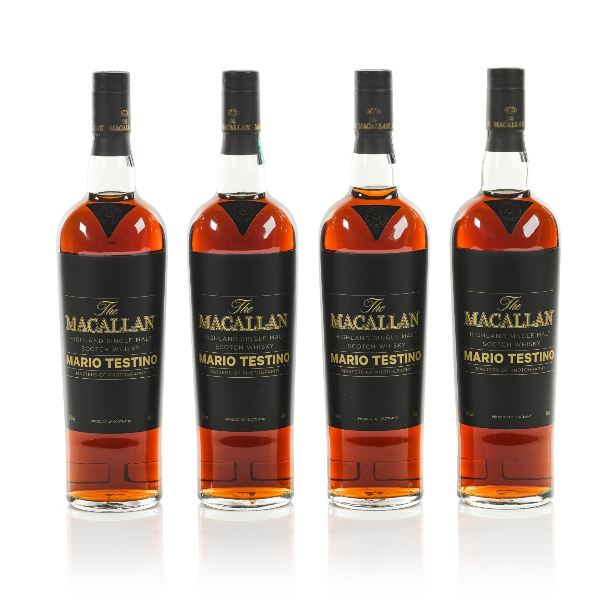 View 1 of Lot 7. The Macallan Mario Testino Masters Of Photography, Six Pillars, Full Collection (4 bts 70cl & 24 bts 5cl).