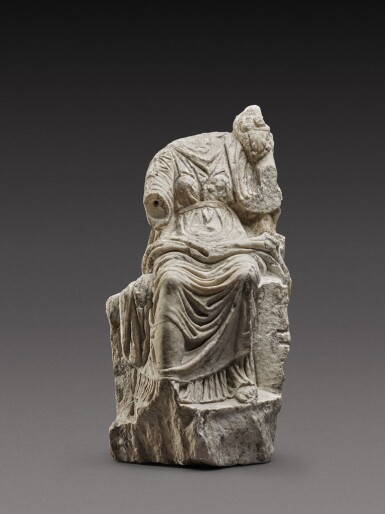 View 1. Thumbnail of Lot 61. A Roman Marble Figure of Fortuna, circa 2nd Century A.D..