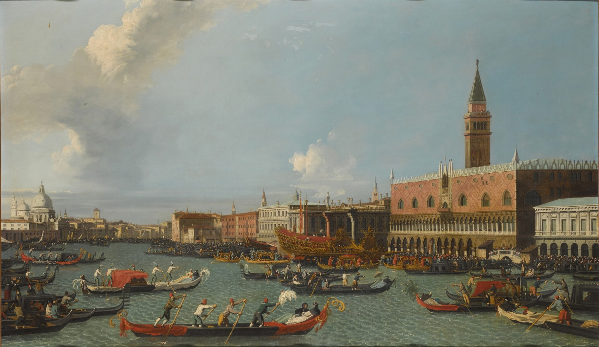 View 1 of Lot 204. Venice, a view of the Palazzo Ducale from the Bacino, with the Bucintoro returning to the Molo on Ascension Day.
