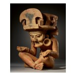 LARGE VERACRUZ FIGURE OF THE FIRE GOD, REMOJADAS LATE CLASSIC, CIRCA AD 550-950