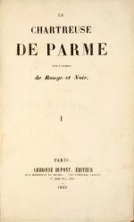 STENDHAL. La Chartreuse de Parme. 1839. 2 vol, demi-mar. de Pagnant, relié sur brochure. Édition originale.
