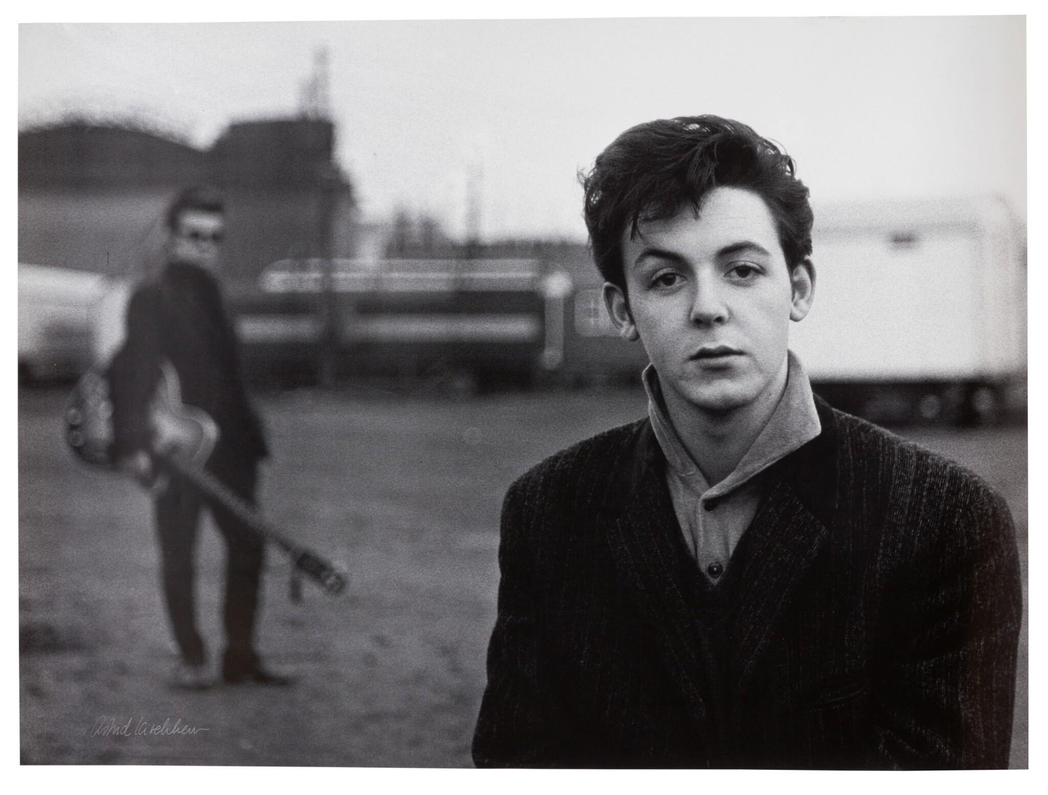 View full screen - View 1 of Lot 3. ASTRID KIRCHHERR   Paul McCartney, Hamburg, 1960, signed and numbered 29/500.